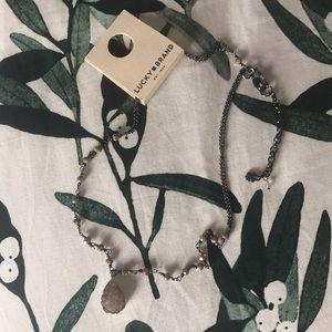 Lucky Brand Druzy Drop Necklace